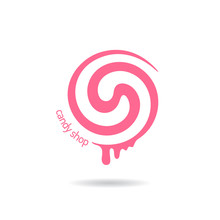 Vector Logo For Sweets, Candy Shop, Boutique, Store