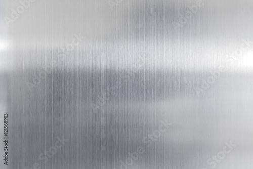 Poster Metal texture metal background of brushed steel plate