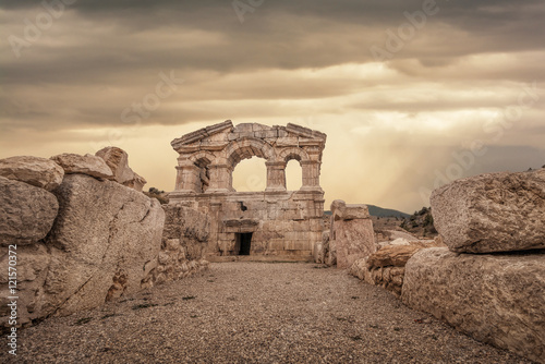 Old Temple,Adana,Feke Canvas Print