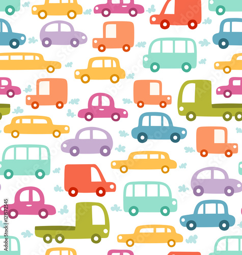 Cartoon voitures Cartoon cars seamless pattern