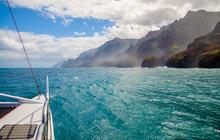 Sailing, Napali Coast, Kauai, ...