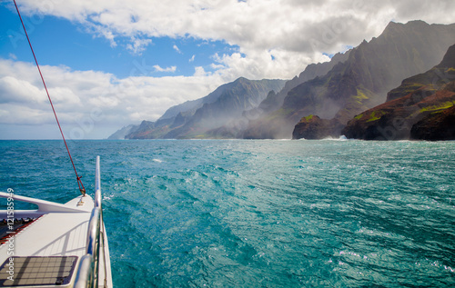 sailing, napali coast, kauai, hawaii