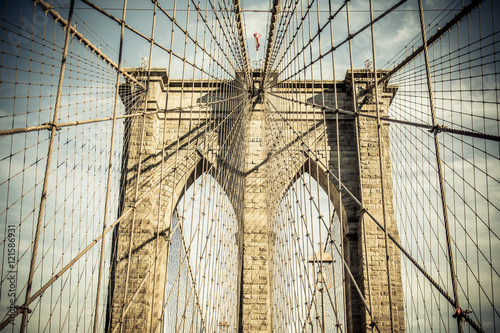 Foto op Canvas Brooklyn Bridge detailed brooklyn bridge architecture