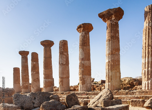 Fotobehang Rudnes Ercole temple in the Valley of the Temples. Agrigento. Sicily.