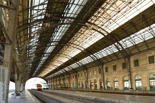 Fotografía  train station Portbou border town,Girona province,Catalonia,Spai