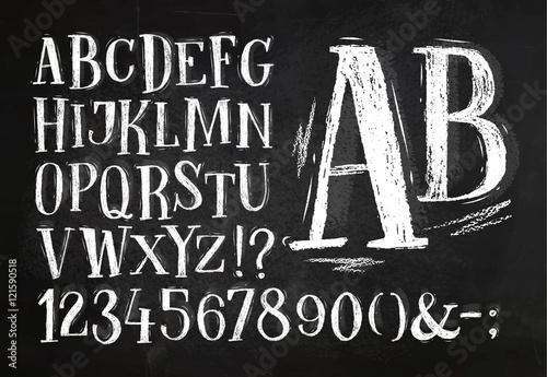 Fotografía  Pencil font alphabet