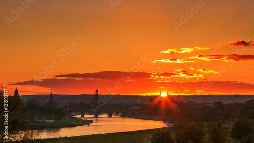 Spoed Foto op Canvas Vuurtoren Dresden