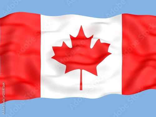 Fotobehang Canada Flag of canada waving in the wind