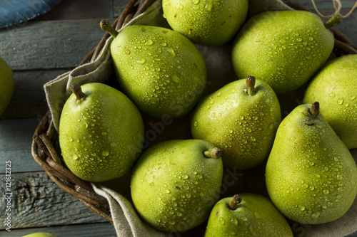 Raw Green Organic Danjou Pears Canvas Print