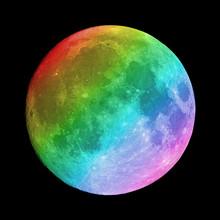 Rainbow On Full Moon
