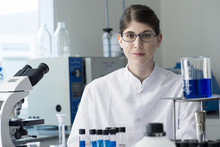 Scientist In Laboratory, Portr...