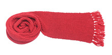 Red Scarf On A White Background.