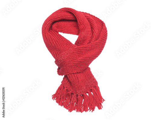 Foto  Red scarf on a white background.