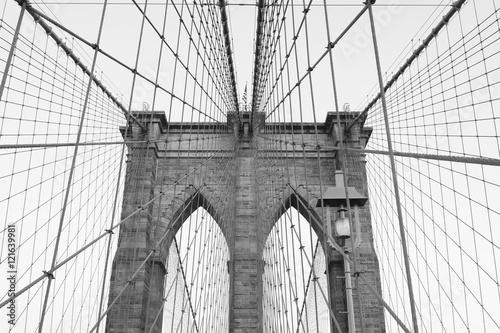 Montage in der Fensternische Brooklyn Bridge Brooklyn Bridge
