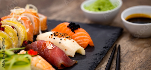 Foto op Aluminium Sushi bar Sushi concepts.