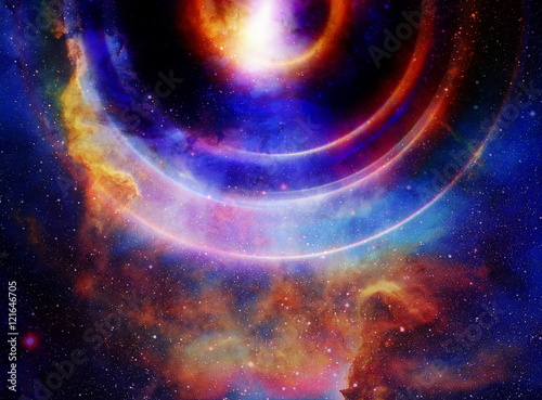 Audio music Speaker with color effect  Cosmic space and