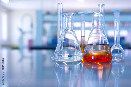 Fotografia  science laboratory glassware