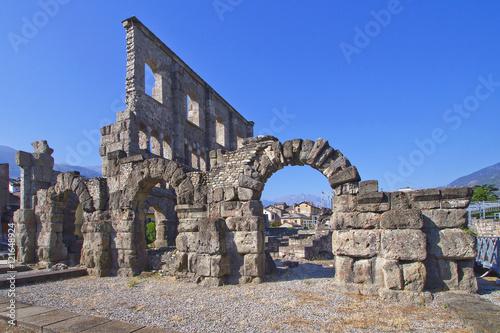Photo aosta teatro romano valle d'aosta italia europa italy europe