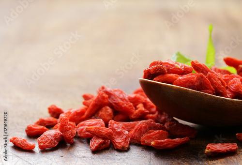 Printed kitchen splashbacks Spices natural organic dried goji berries, healthy eating