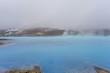 Geothermal blue lake in Iceland