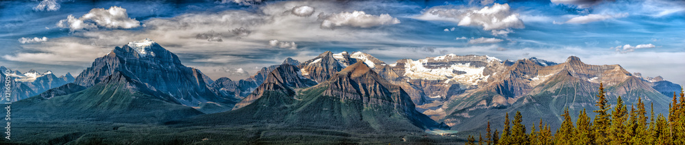 Fototapety, obrazy: Canada Rocky Mountains Panorama landscape view