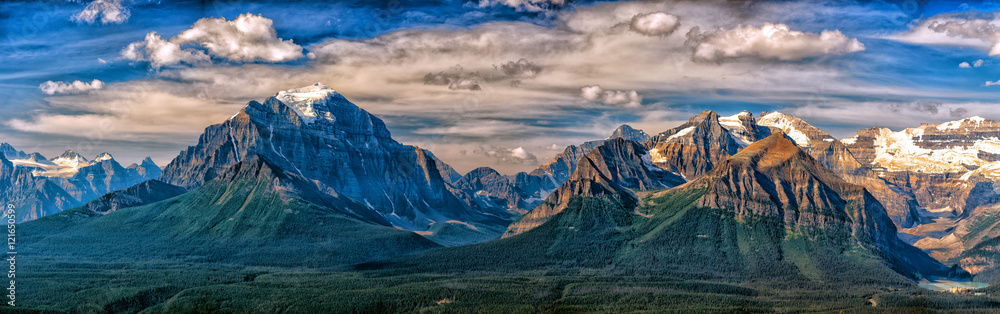 Fototapeta Canada Rocky Mountains Panorama landscape view