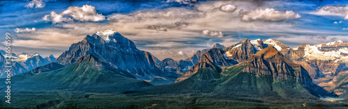 Montage in der Fensternische Kanada Canada Rocky Mountains Panorama landscape view