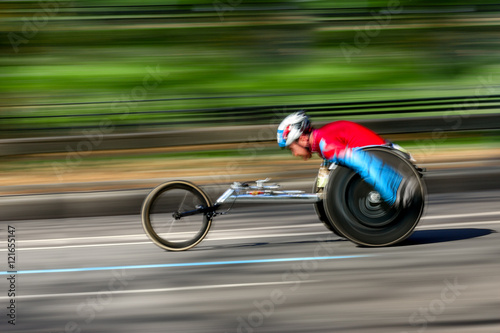 Fotografiet  athletic competition wheelchair users