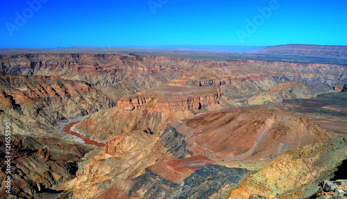 Poster de jardin Canyon Fish river Canyon, south Namibia