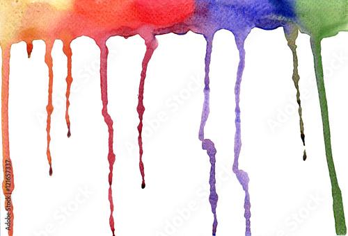 Photo sur Plexiglas Background color water drops on the white paper.