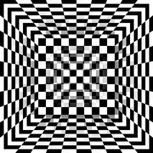 Black And White Chessboard Pattern Box. Vector Abstract Background.
