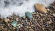 Sea pebbles, ocean, wave, coast
