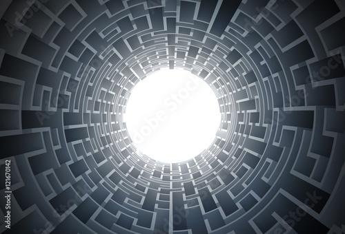 Maze Tunnel 3D Concept