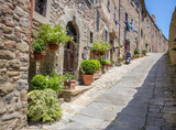 Fototapeta Uliczki - Beautiful street of Cortona, Tuscany