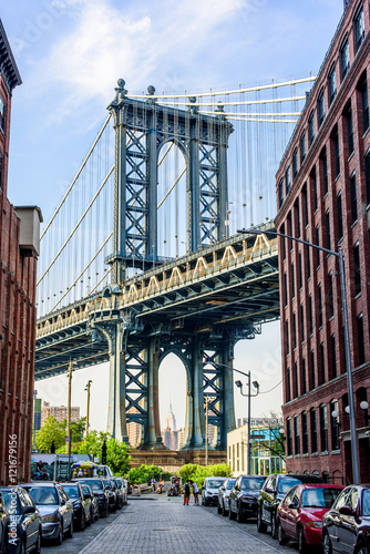 Photo  Manhattan Bridge from Brooklyn