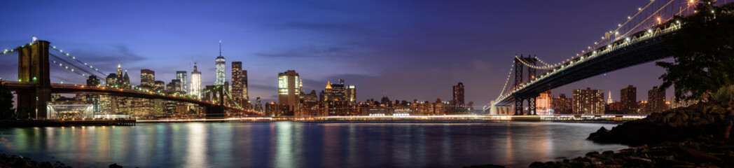 Naklejka Manhattan cityscape from Brooklyn, New York City
