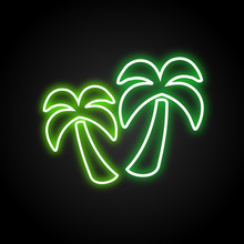 Palms Neon Vector
