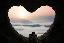 Romantic Couple Enjoy Mountain...