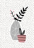 Concrete Vase and Pink Pot - 121702171