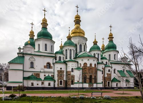 Foto op Plexiglas Kiev Kiev, Ukraine. Saint Sophia Monastery Cathedral, UNESCO World