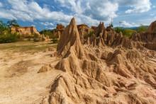Soil Erosion Has Produced Stra...
