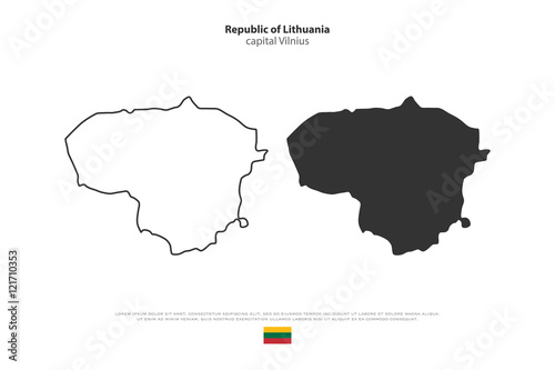 Republic of Lithuania isolated map and official flag icons ... on scale map of dominican republic, scale map of asia, scale map of the us, scale map of antarctica, scale map of iraq, scale map of saudi arabia, scale map of united states, scale map of india, scale map of grenada, scale map of the philippines, scale map of iceland,