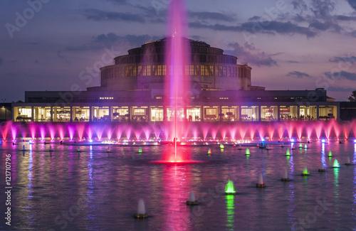 Obraz Światła fontanny - fototapety do salonu
