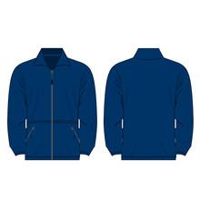 Blue Color Fleece Outdoor Jack...