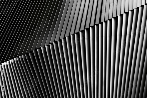 Fotografie, Obraz  Metal louver architectural detail, Bangkok, Thailand
