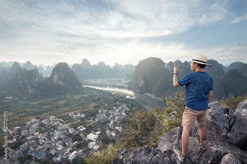Poster Guilin Standing on the mountain