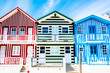 colorful houses in Costa Nova, Aveiro, Portugal