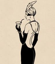 Flapper Girl: Retro Party Invi...