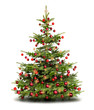 Traditionell geschmückter Weihnachtsbaum