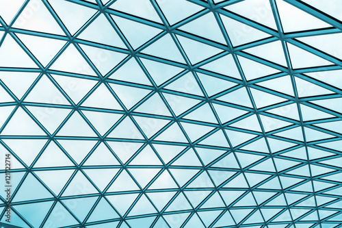 Stampa su Tela futuristic roof of modern building
